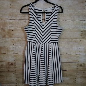 Saturday Sunday Medium Stripe Fit N Flare Dress
